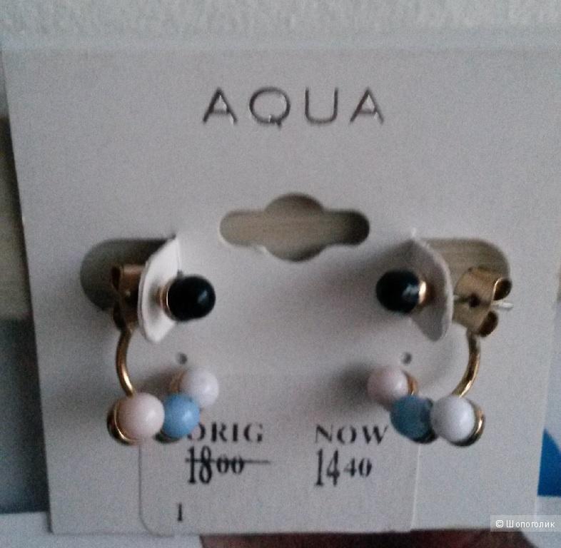 Серьги новые Aqua, США