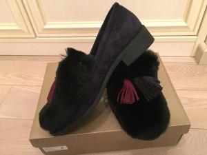 Уютные туфли на меху, р 38