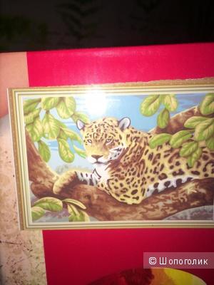 Живопись по номерам леопард новая