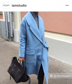 Утеплённое дизайнерское пальто I am studio, размер M
