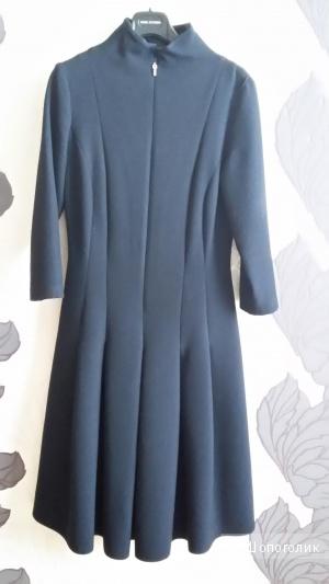 Элегантное темно -синее платье , размер Евро 38, S, 42-44 Rus