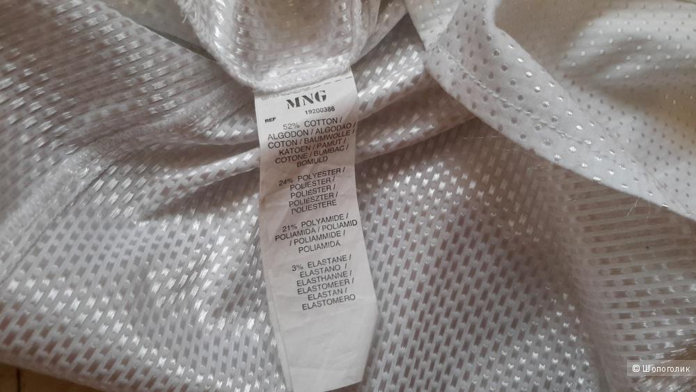 Красивая белая блузка Mango размер XL лучше на наш 4