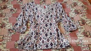 Блузка Divided by H&M размер 36 евро на наш 48