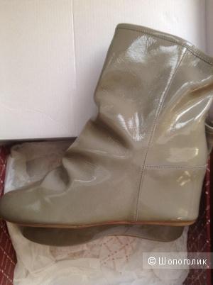 Женские ботинки американского бренда 80%20, размер 41, натуральная кожа (лак)