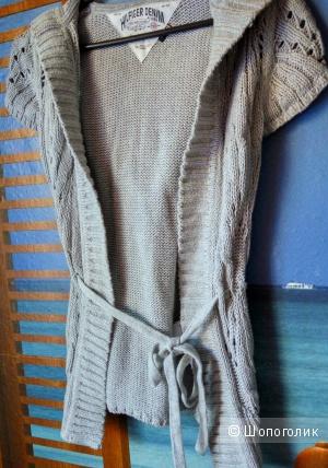 Вязаная кофточка с коротким рукавом и капюшоном Hilfiger Denim (S)