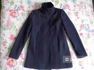 Пальто Mango темно-синего цвета 40-44 размер