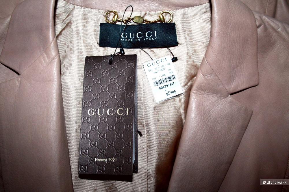 Оригинал. Новая Кожа Gucci. Жакет. Куртка. Италия 42-44р.