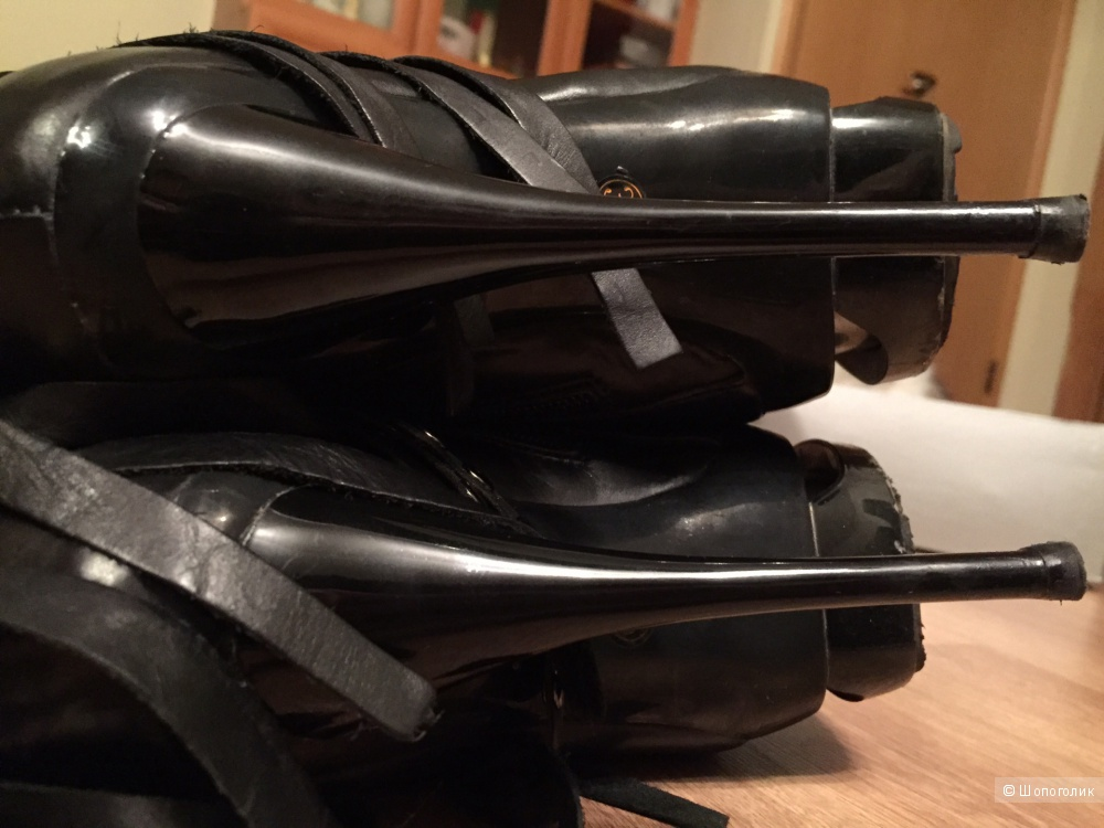 Кожаные сапоги с бахромой Paolo Conte 36-37 б/у