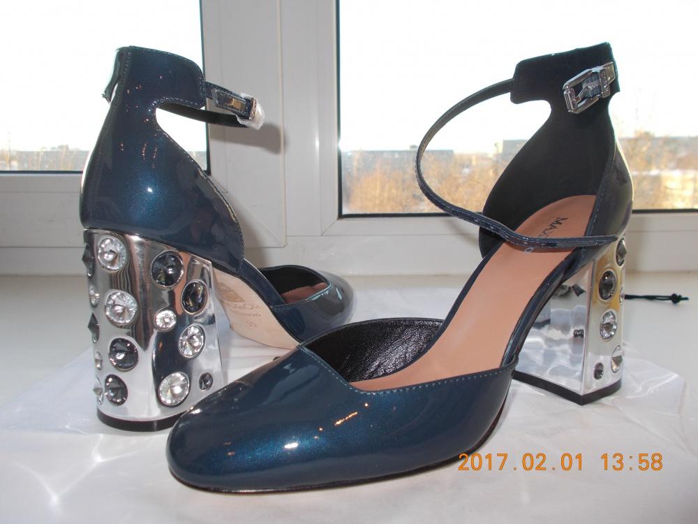 Новые туфли Max&Co, синие, 39 размер