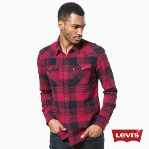 Фланелевая теплая рубашка Levi's Barstow Tibetan Red