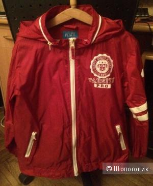 """Куртка ветровка на мальчика """"The children place"""". Красная. Размер М. Б/У. В отличном состоянии."""