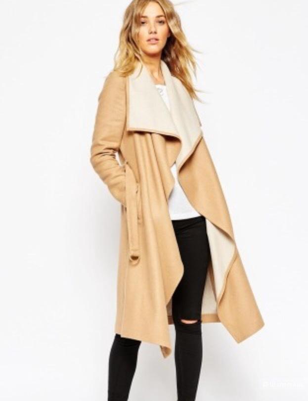 Пальто с драпировкой  Asos
