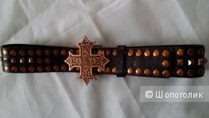 Крутой кожаный ремень APART 80 см