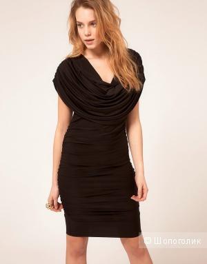Новое симпатичное платье Honor Gold Drape Dress - Black / XS (42-44)