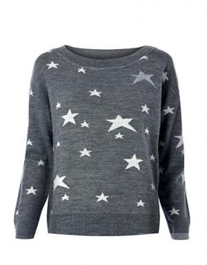 Джемпер MANGO со звездами, размер S (Mango Stars sweater)