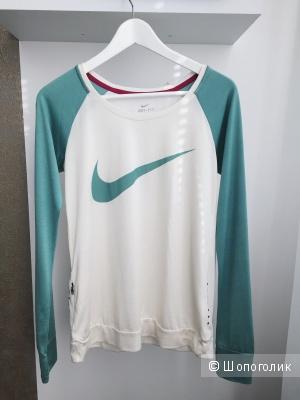 Новый шелковый спортивный топ лонгслив Nike Dri fit