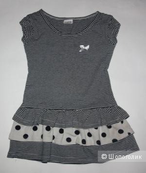 Летнее полосатое платье от Лукли на 80-92 см