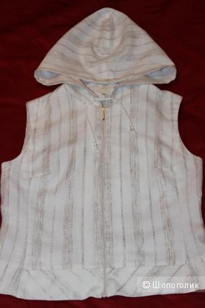 Блузка-жилет с капюшоном, размер 44-46.