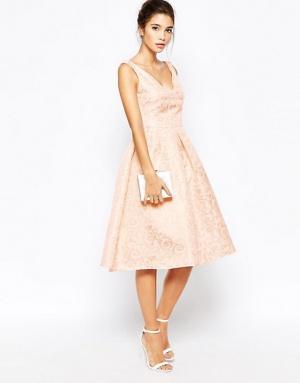 Жаккардовое платье-миди True Decadence