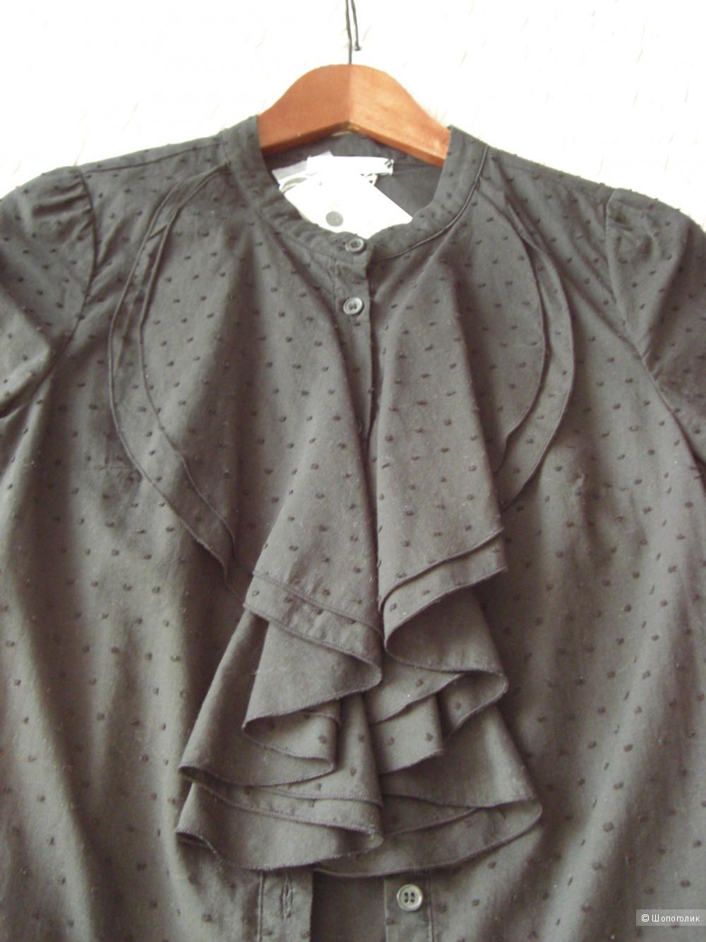 Рубашка Selected Femme Dobi Short Sleeve Shirt - Black / S (36)