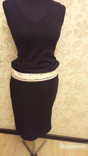 Tara Jarmon:  хлопковая юбка со стреч , 42