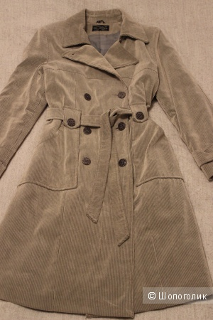 Пальто демисезонное, вельвет, размер 48.