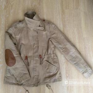 Куртка-парка Sessun с кожаными заплатками