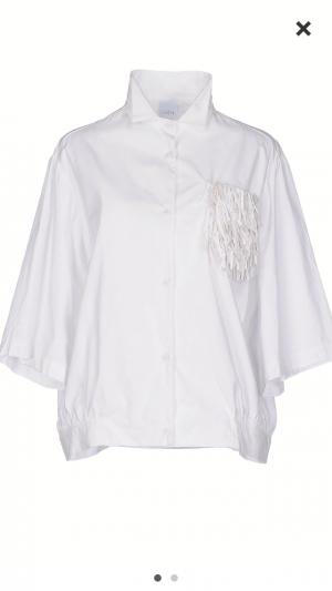 Белая рубашка-бомбер