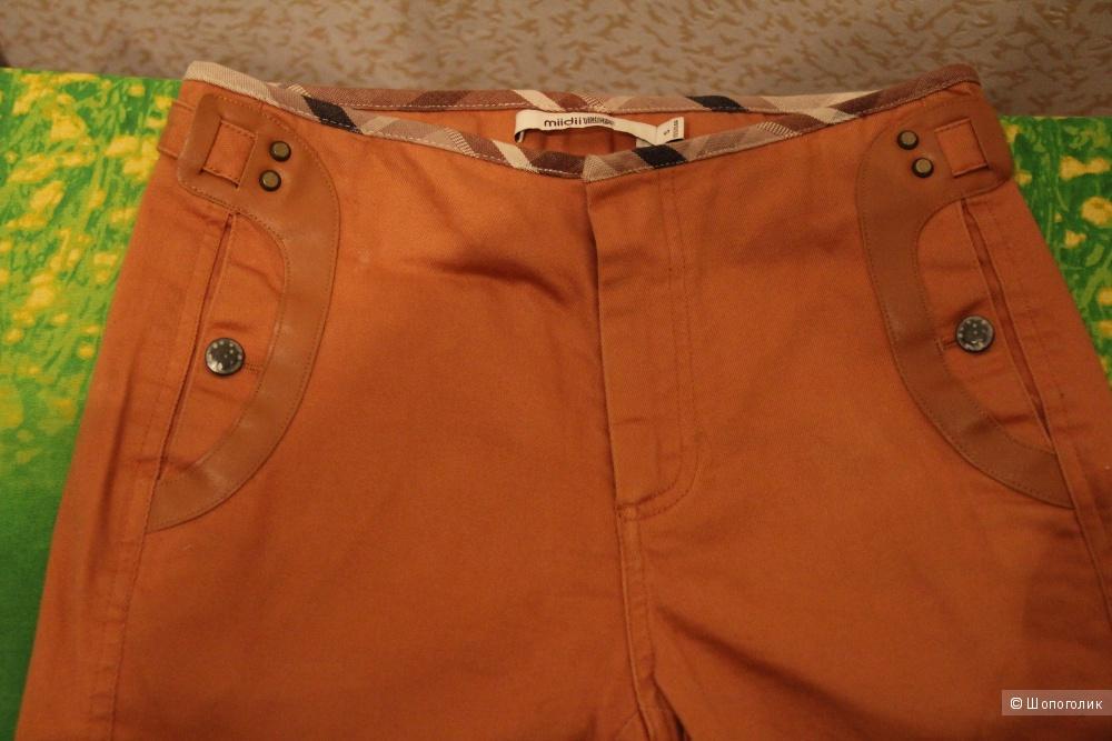 Коричневые брюки (джинсы) японский дизайнер MiiDii