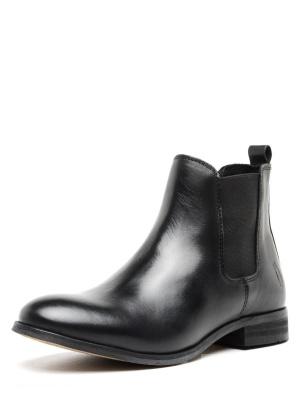 Shoe The Bear чёрные кожаные ботинки-челси, 38 р.