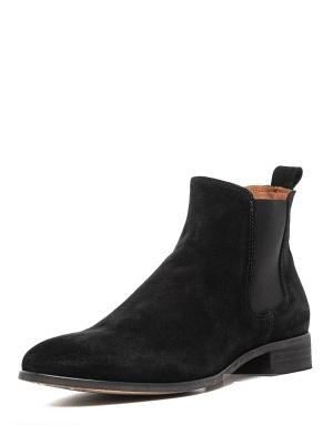 Shoe The Bear замшевые чёрные ботинки-челси, 38 р.