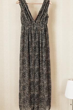 Леопардовое платье в пол H&M