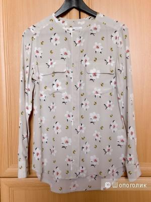 Шёлковая блузка Equipment с принтом, размер XS