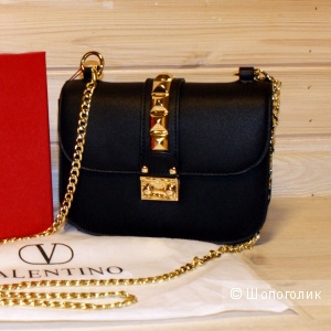 Клатч Valentino Glam Lock Small Black