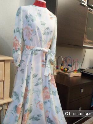 Шёлковое платье в пол