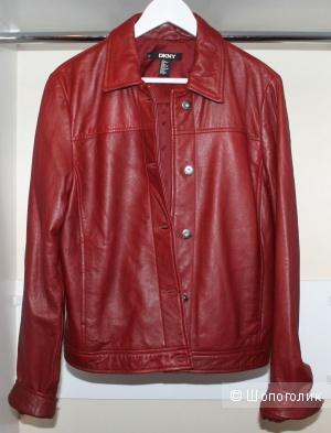 Оригинал. Новая Куртка Donna Karan. Кожа ягненка 48р.