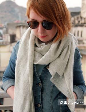 Новый классический кашемировый шарф цвета слоновой кости