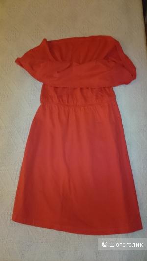 Платье летнее красное