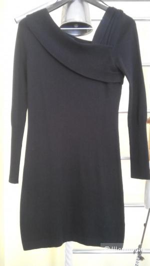 Платье свитер черного цвета Topshop uk 10