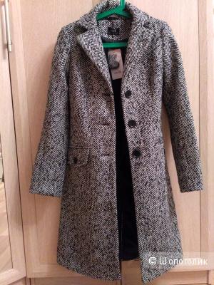 Новое пальто Oodji из смесовой шерсти, 36
