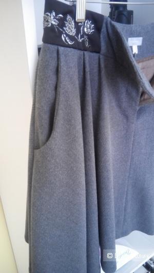 Красивая юбка клеш с шерстью бренд Stefanel Италия 46 р.
