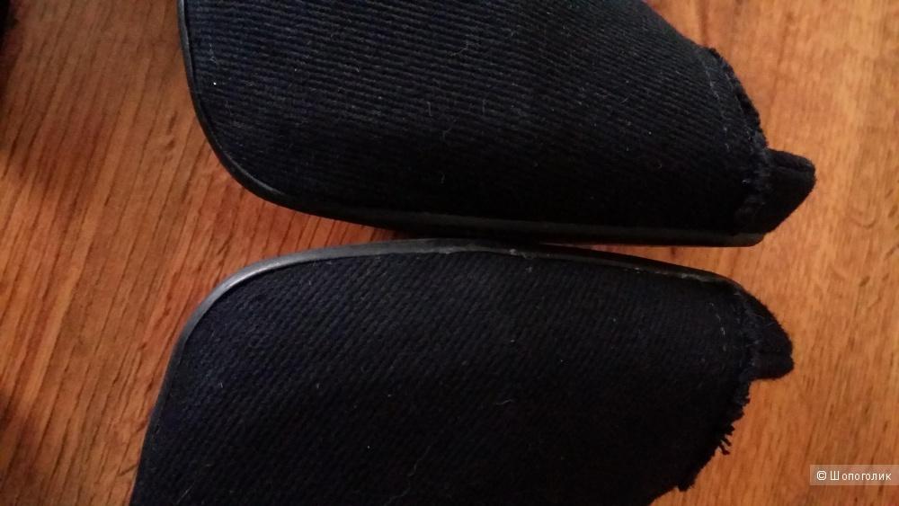 """Туфли брендовые ASH из плотного """"винтажного"""" денима с шипами на пятке 38,5 размера"""