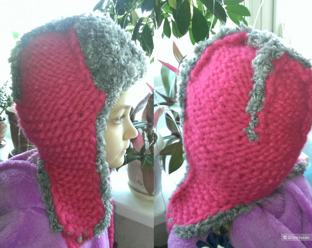 Пристрою вязаную шапку-ушанку