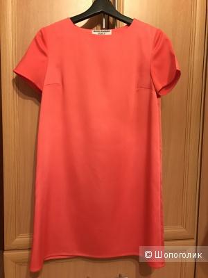Платье коралловое А-силуэта, размер S