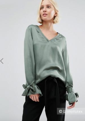 Блузка с бантами на рукавах Selected - Зеленый / EU 38/рос. 44-46