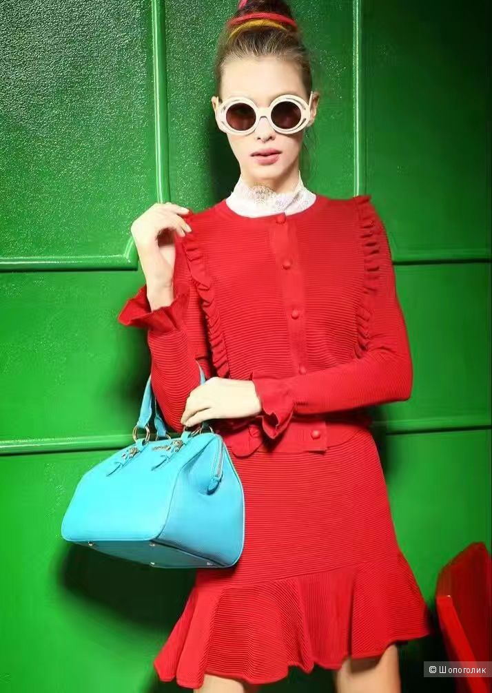 0895ede18c62 Красный костюм с юбкой Гуччи (Gucci), в магазине Российский магазин ...