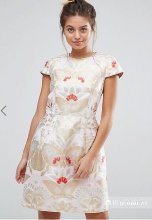Очень нарядное платье для крупной девушки Ted Baker Opulent Tulip - Xstraw / Size 4/ на рос. 50