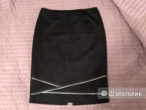 Шерстяная юбка-карандаш, 42