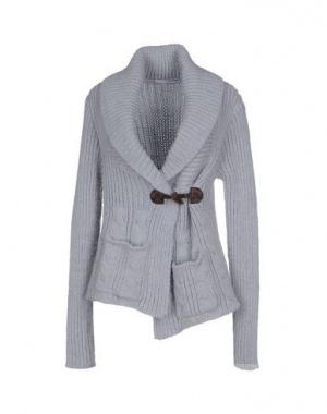 Кардиган Relive, шерсть, серо-голубой, 44 размер
