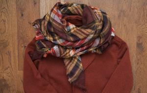 Новый шарф-платок в клетку